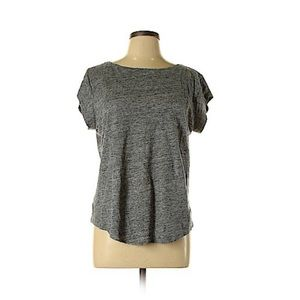 Anne Taylor LOFT Heathered Gray S/S Linen Top